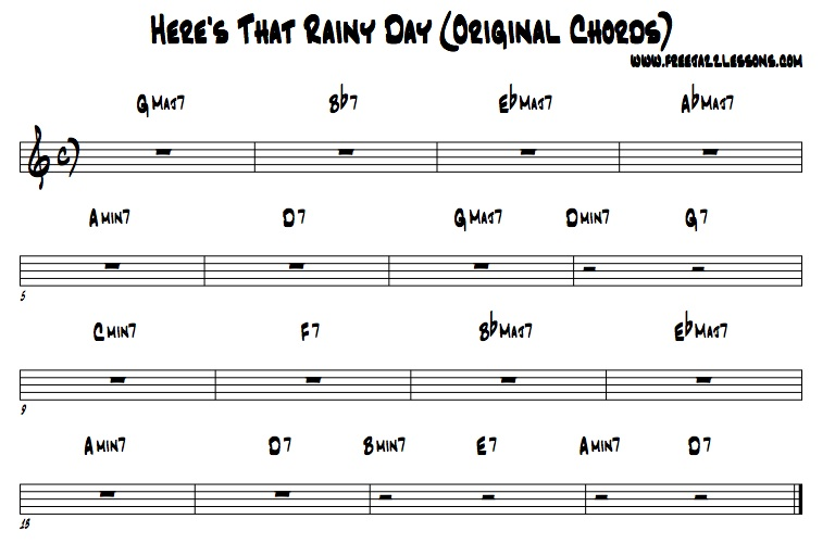 Here's that Rainy Day Jazz Chords